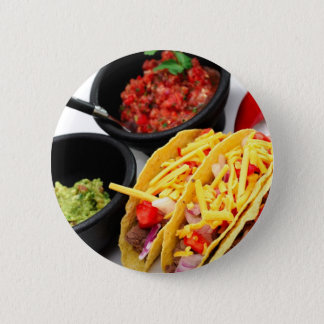 Hard Shell Taco's 6 Cm Round Badge