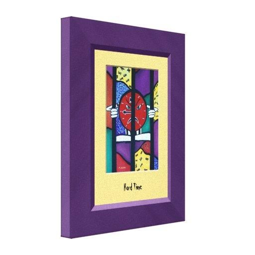 HaRd TiMe Purple Yellow Canvas Wall Art Canvas Prints