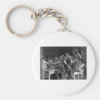Hard Times Vintage Daguerreotype 1860 Key Chain