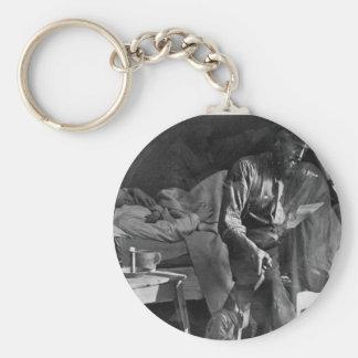 Hard Times Vintage Daguerreotype 1860 Keychains