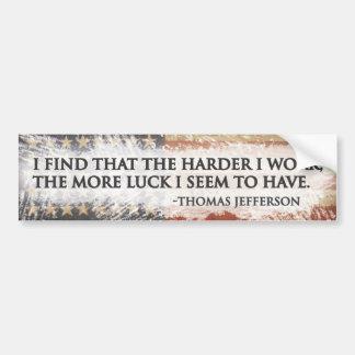 Hard Work = Luck Bumper Sticker