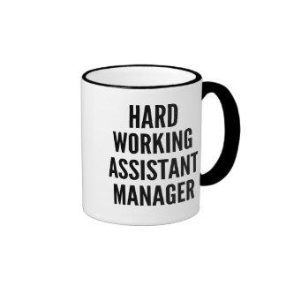 Hard Working Assistant Manager Ringer Mug