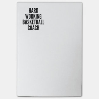 Hard Working Basketball Coach Post-it Notes