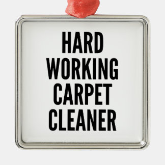 Hard Working Carpet Cleaner Christmas Ornament