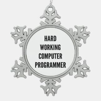 Hard Working Computer Programmer Ornament