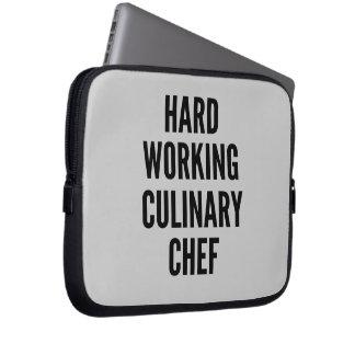 Hard Working Culinary Chef Computer Sleeves