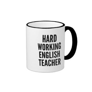 Hard Working English Teacher Ringer Mug