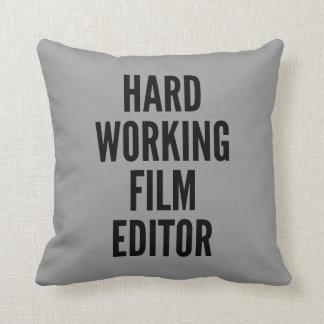 Hard Working Film Editor Cushions