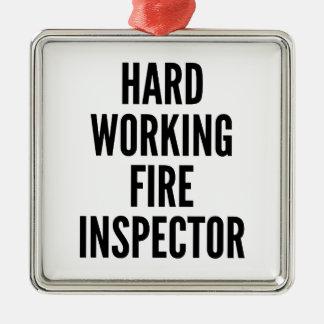Hard Working Fire Inspector Christmas Ornament