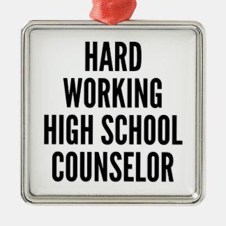 Hard Working High School Counselor Christmas Ornament