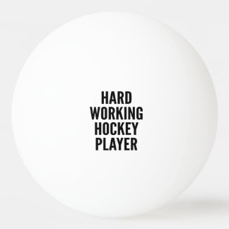 Hard Working Hockey Player Ping Pong Ball