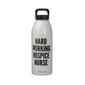 Hard Working Hospice Nurse Reusable Water Bottle
