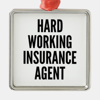 Hard Working Insurance Agent Christmas Ornament