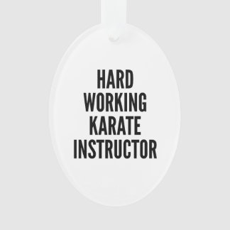 Hard Working Karate Instructor