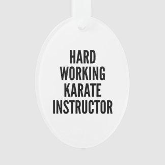 Hard Working Karate Instructor Ornament