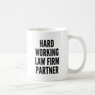 Hard Working Law Firm Partner Coffee Mug