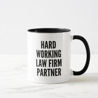 Hard Working Law Firm Partner Mug