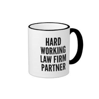 Hard Working Law Firm Partner Ringer Mug