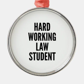Hard Working Law Student Christmas Ornament