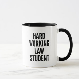 Hard Working Law Student Mug