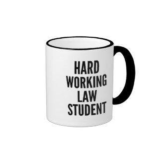 Hard Working Law Student Ringer Mug