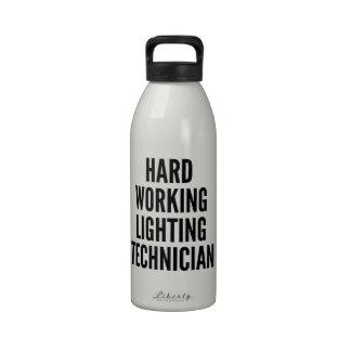 Hard Working Lighting Technician Drinking Bottle