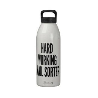 Hard Working Mail Sorter Drinking Bottle