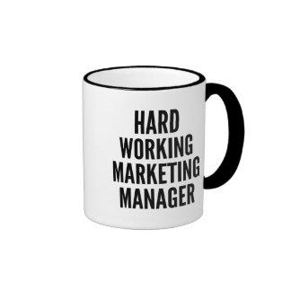 Hard Working Marketing Manager Ringer Mug
