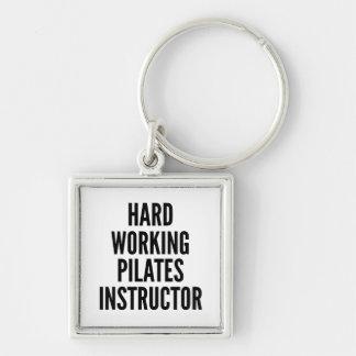 Hard Working Pilates Instructor Key Ring