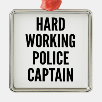 Hard Working Police Captain Christmas Ornament