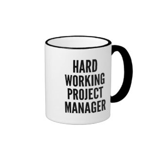 Hard Working Project Manager Ringer Mug