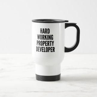 Hard Working Property Developer Stainless Steel Travel Mug