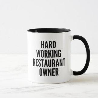 Hard Working Restaurant Owner Mug
