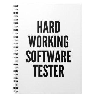 Hard Working Software Tester Spiral Notebook