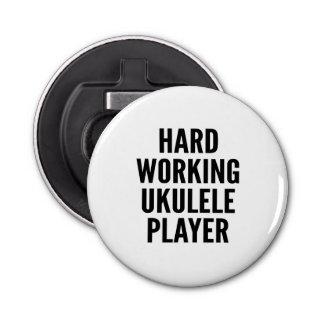 Hard Working Ukulele Player Bottle Opener