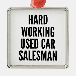 Hard Working Used Car Salesman Christmas Ornament
