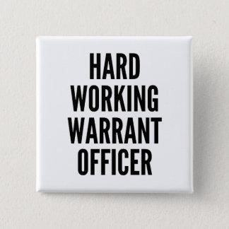 Hard Working Warrant Officer 15 Cm Square Badge