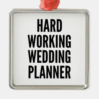 Hard Working Wedding Planner Christmas Ornament