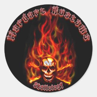 Hardart Kustoms Skullology Decal Round Sticker