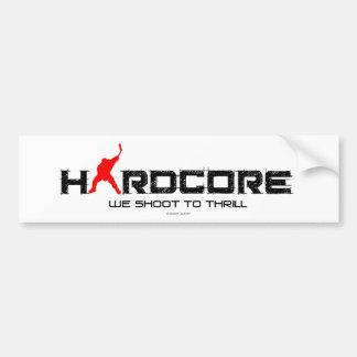 HARDCORE BUMPER STICKER