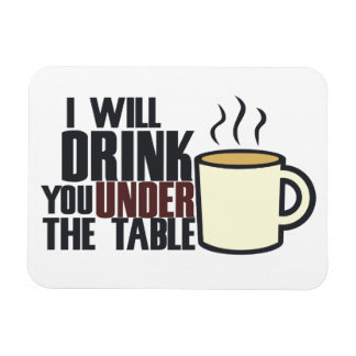 Hardcore coffee drinker rectangular photo magnet