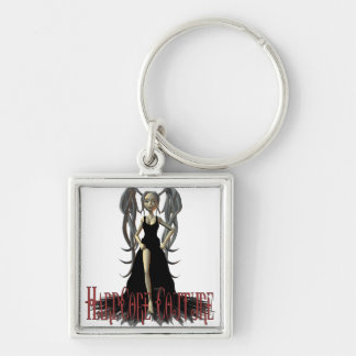 HardCore Couture Gothic Chic 6 Silver-Colored Square Key Ring