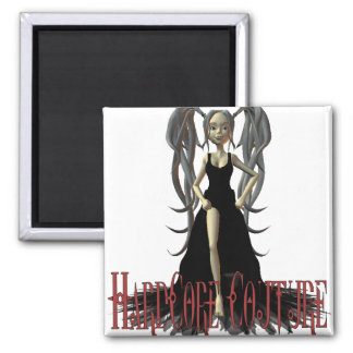 HardCore Couture Gothic Chic 6 Square Magnet