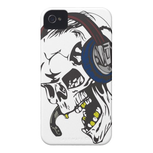 hardcore dee jay skull Case-Mate iPhone 4 cases