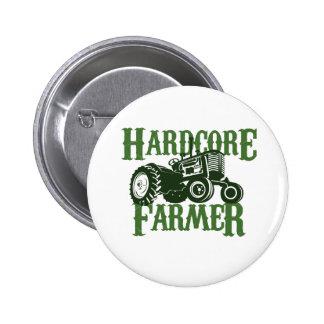 Hardcore Farmer 6 Cm Round Badge