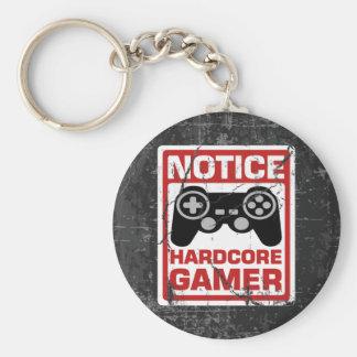 Hardcore Gamer Notice Signboard Key Ring