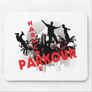 Hardcore Parkour Grunge City Mousepads