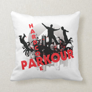 Hardcore Parkour Grunge City Throw Pillow
