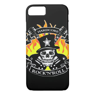 Hardcore Rock'N'Roll skull and guitars iPhone 8/7 Case