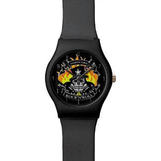 Hardcore Rock'N'Roll skull and guitars Watch